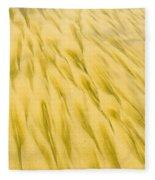 Golden Sand Pattern Created By Surf On Beach Fleece Blanket