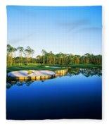 Golf Course At The Lakeside, Regatta Fleece Blanket