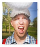 Golf Four And Out Cold Fleece Blanket