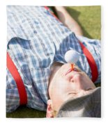 Golf Player Finding Inner Balance Fleece Blanket
