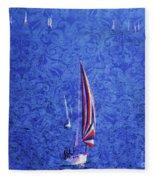 Gone Sailing Fleece Blanket