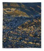 Granada And The Alhambra Fleece Blanket