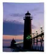 Grand Haven Lighthouse Fleece Blanket