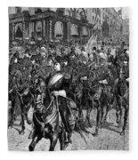 Grant Funeral, 1885 Fleece Blanket