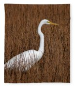 1- Great Egret Fleece Blanket