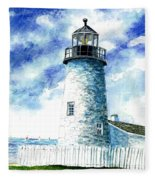 Great Lakes Light II Fleece Blanket