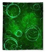 Green Bubbles Fleece Blanket
