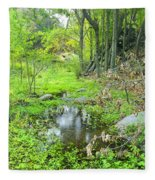 Green Forest Fleece Blanket