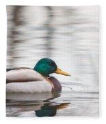 Green-headed Duck Fleece Blanket