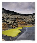 Green Lagoon On Lanzarote Fleece Blanket