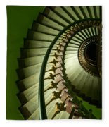 Green Spiral Staircase Fleece Blanket