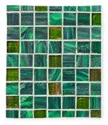 Green Tiles Fleece Blanket