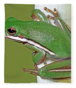 Green Treefrog Fleece Blanket
