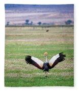 Grey Crowned Crane. The National Bird Of Uganda Fleece Blanket