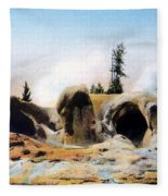 Grotto Geyser Yellowstone Np Fleece Blanket