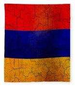 Grunge Armenia Flag  Fleece Blanket