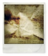 Grunge Newspaper Fleece Blanket