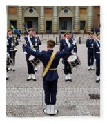 Guards Changing Shifts. Kungliga Slottet.gamla Stan. Stockholm 2 Fleece Blanket
