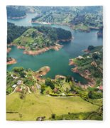Guatape Lake Fleece Blanket