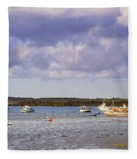 Guernsey Coastline Fleece Blanket