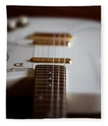 Guitar Glance Fleece Blanket