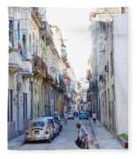 Habana Street Fleece Blanket
