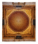 Hall Of Ambassadors In The Royal Alcazar Of Seville Fleece Blanket