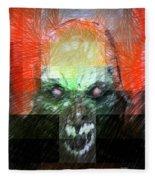 Halloween Mask Fleece Blanket