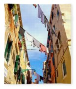 Hanging In Venice Fleece Blanket