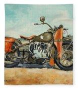 Harley Davidson Wla 1942 Fleece Blanket