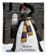 Harry Christmas Fleece Blanket