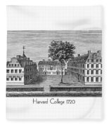 Harvard College - 1720 Fleece Blanket