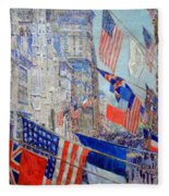 Hassam's Allies Day May 1917 -- The Avenue Of The Allies Fleece Blanket