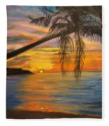 Hawaiian Sunset 11 Fleece Blanket