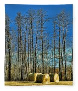 Hay Bails Fleece Blanket
