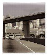 Heading Into The Busy Part Of San Francisco Fleece Blanket