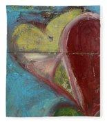 Heart Shape Painted On A Wall, Safed Fleece Blanket