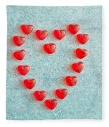 Heart Shape Fleece Blanket