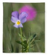 Heart's Ease Wild Viola Fleece Blanket