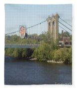 Hennepin Bridge Fleece Blanket