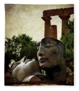 'hermanos' In The Valley Of The Temples Fleece Blanket