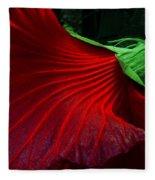 Hibiscus Red Fleece Blanket