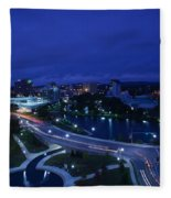 High Angle View Of A City, Big Spring Fleece Blanket
