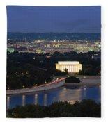 High Angle View Of A City, Washington Fleece Blanket