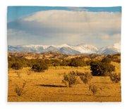 High Desert Plains Landscape Fleece Blanket