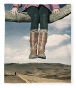 High Over The World Fleece Blanket