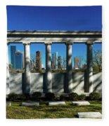 High Rise Buildings In Houston Fleece Blanket