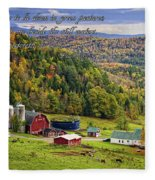 Hillside Acres Farm Fleece Blanket