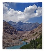 Himalayan Scenery... Fleece Blanket