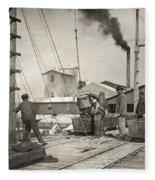 Hine Oyster Fishing, 1911 Fleece Blanket
